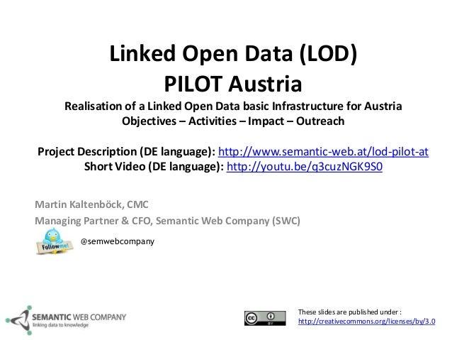 Linked Open Data (LOD) PILOT Austria Realisation of a Linked Open Data basic Infrastructure for Austria Objectives – Activ...