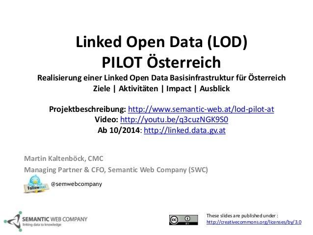 Linked Open Data (LOD)  PILOT Österreich  Realisierung einer Linked Open Data Basisinfrastruktur für Österreich  Ziele | A...