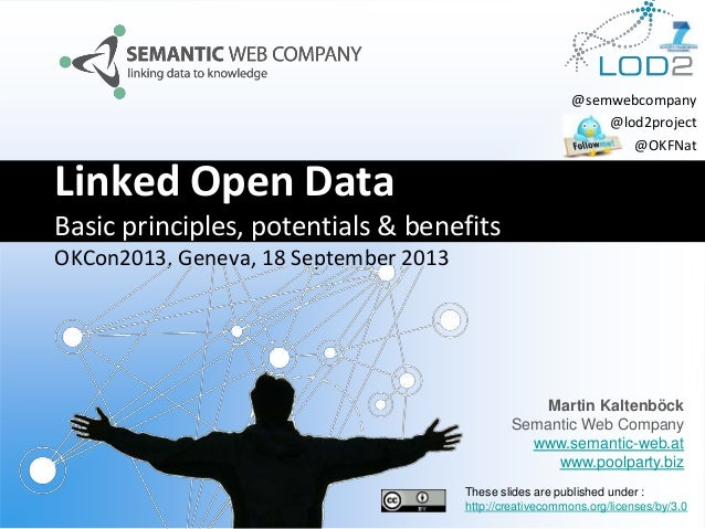 Linked Open Data Basic principles, potentials & benefits OKCon2013, Geneva, 18 September 2013 Martin Kaltenböck Semantic W...