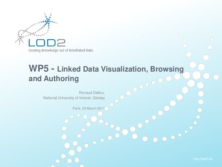 Creating Knowledge out of Interlinked Data       WP5 - Linked Data Visualization, Browsing       and Authoring            ...