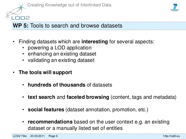 LOD2: State of Play WP5 - Linked Data Visualization