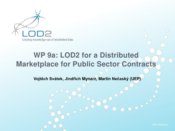 Creating Knowledge out of Interlinked Data      WP 9a: LOD2 for a Distributed  Marketplace for Public Sector Contracts    ...