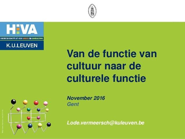 DesignCharles&RayEames-Hangitall©Vitra Van de functie van cultuur naar de culturele functie November 2016 Gent Lode.verme...