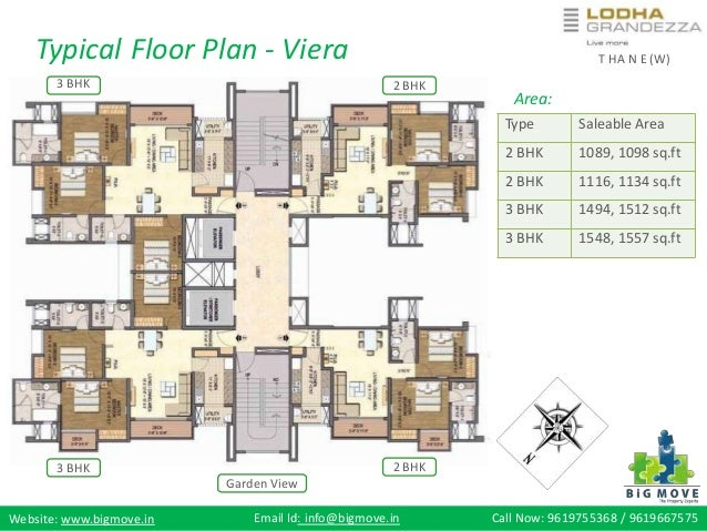 Lodha The Park Floor Plan: Lodha Grandezza At Wagle Estate , Thane (W)