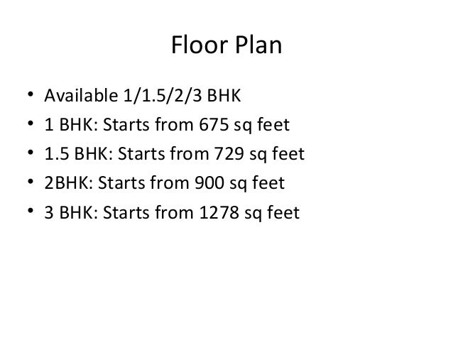 Lodha Splendora Floor Plan
