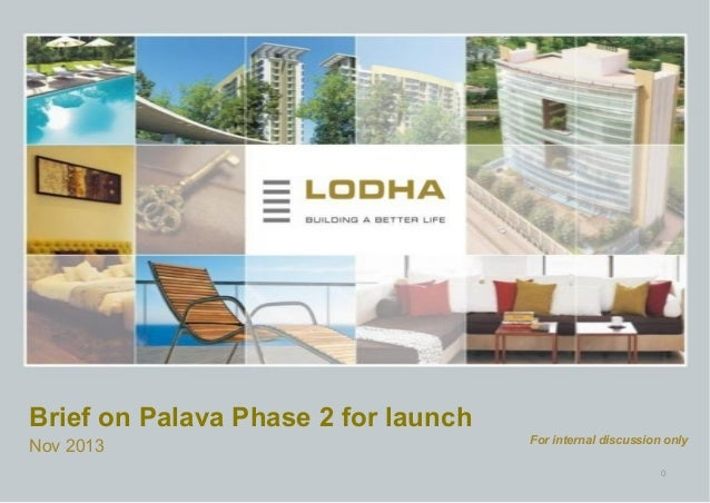 Brief on Palava Phase 2 for launch Nov 2013  For internal discussion only 0