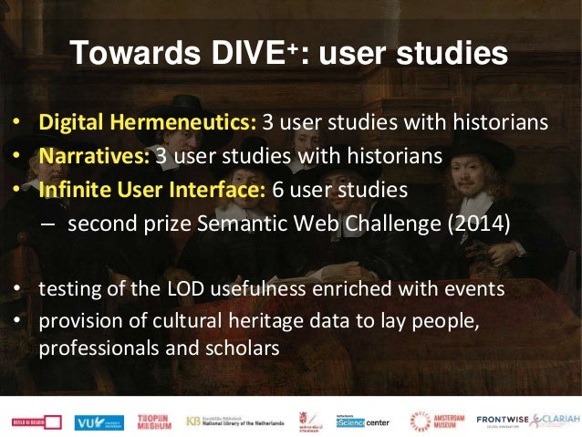 • Digital Hermeneutics: 3 user studies with historians • Narratives: 3 user studies with historians • Infinite User Interf...