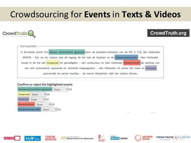 Crowdsourcing for Events in Texts & Videos CrowdTruth.org