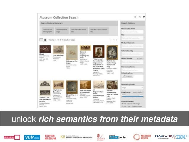 unlock rich semantics from their metadata