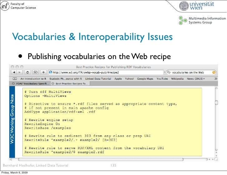 Vocabularies & Interoperability Issues              •          Publishing vocabularies on the Web recipe      Bernhard Has...