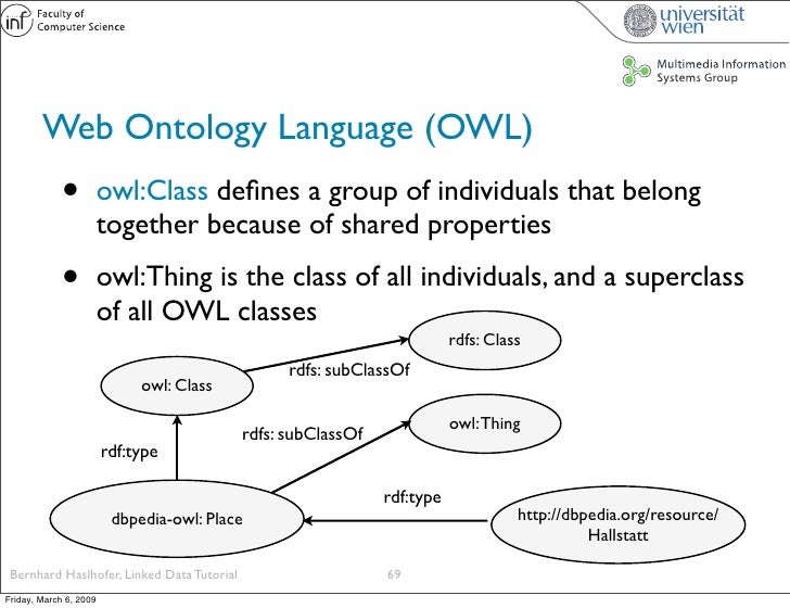 Web Ontology Language (OWL)              •          owl:Class defines a group of individuals that belong                   ...