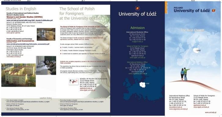 Lodz info flyer