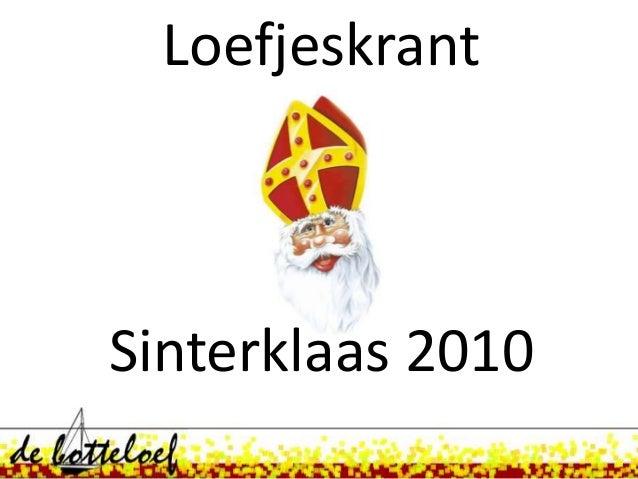 Loefjeskrant Sinterklaas 2010