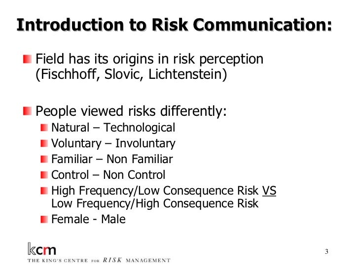 Risk Communication In The 21st Century