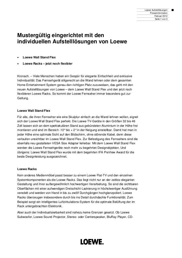 Loewe Aufstelllösungen                                                                                                 Pre...