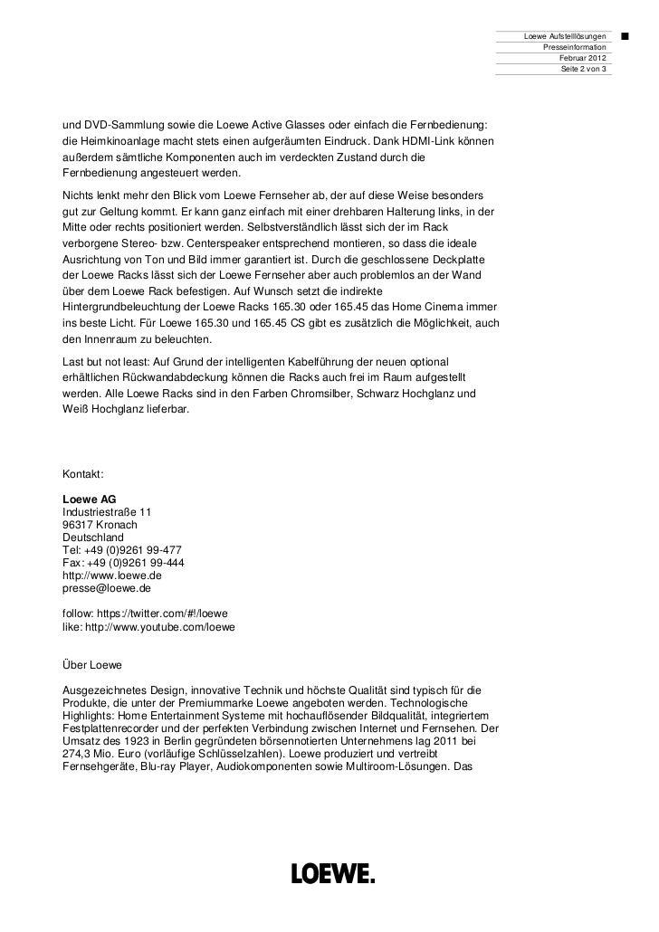 Loewe Aufstelllösungen                                                                                               Press...