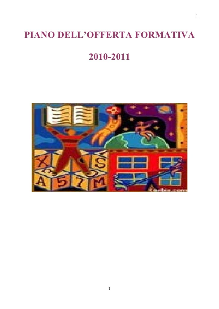 1PIANO DELL'OFFERTA FORMATIVA          2010-2011              1