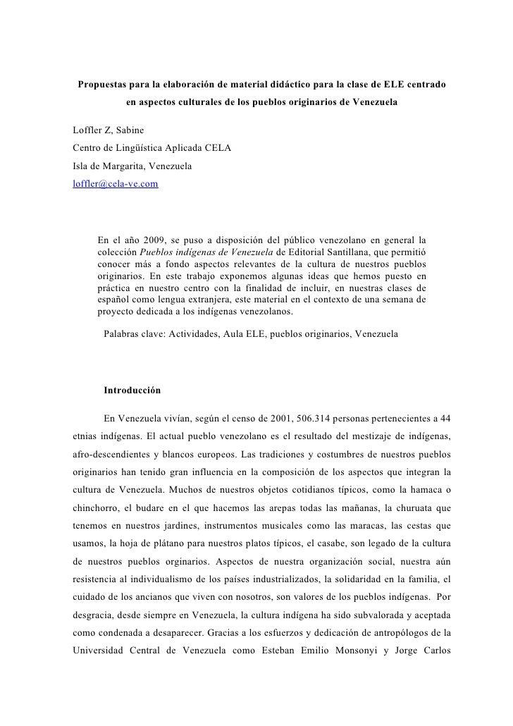 Propuestas para la elaboración de material didáctico para la clase de ELE centrado              en aspectos culturales de ...