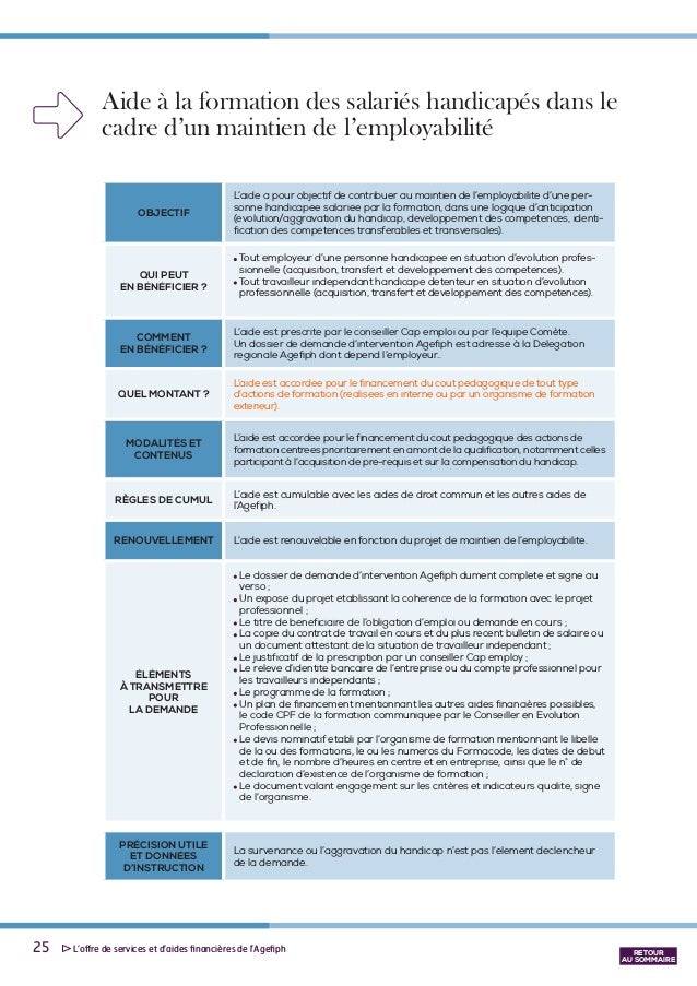 dossier demande subvention agefiph