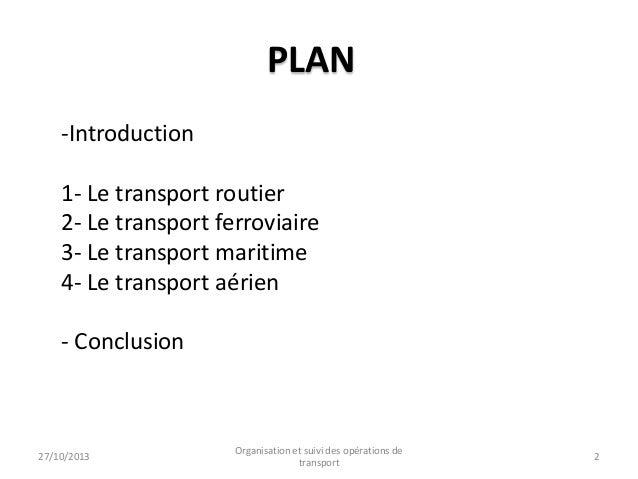 L'offre et la demande du transport au niveau national et international Slide 2
