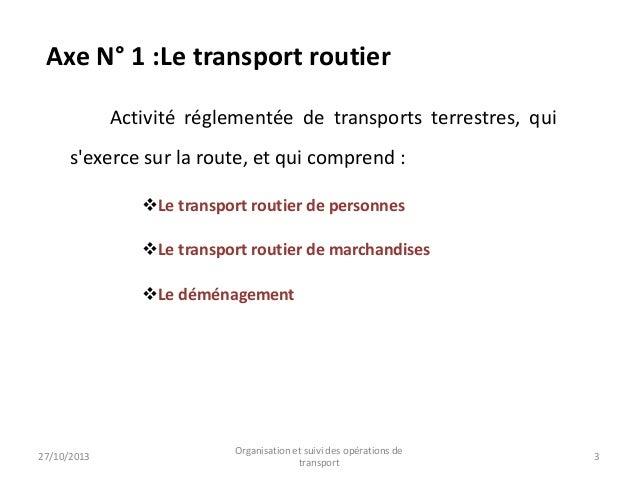 L'offre et la demande du transport au niveau national et international Slide 3