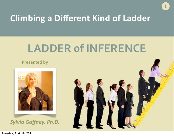 1      Climbing	  a	  Different	  Kind	  of	  Ladder                   LADDER	  of	  INFERENCE              Presented	  by ...
