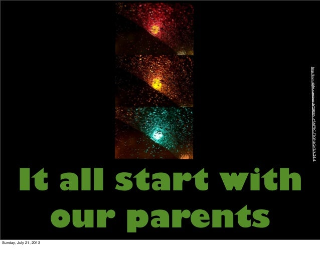 It all start with our parents http://compfight.com/search/GREEN-TRAFFIC-STOPLIGHT/2-2-1-1 Sunday, July 21, 2013