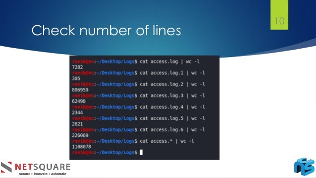 Check number of lines 10