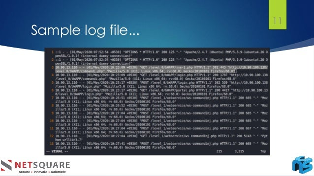 Sample log file... 11