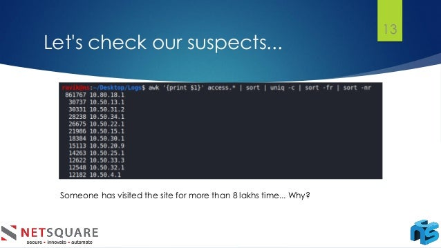 Let's check our suspects... 13 Someone has visited the site for more than 8 lakhs time... Why?