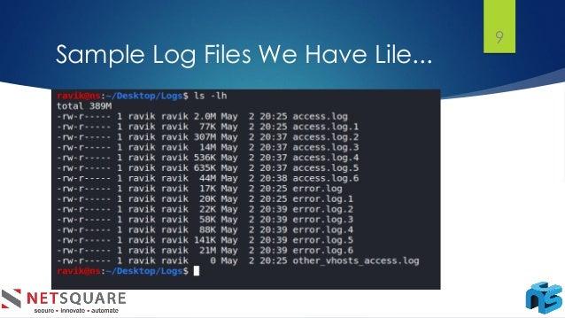 Sample Log Files We Have Lile... 9