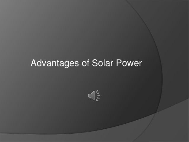 Advantages of Solar Power