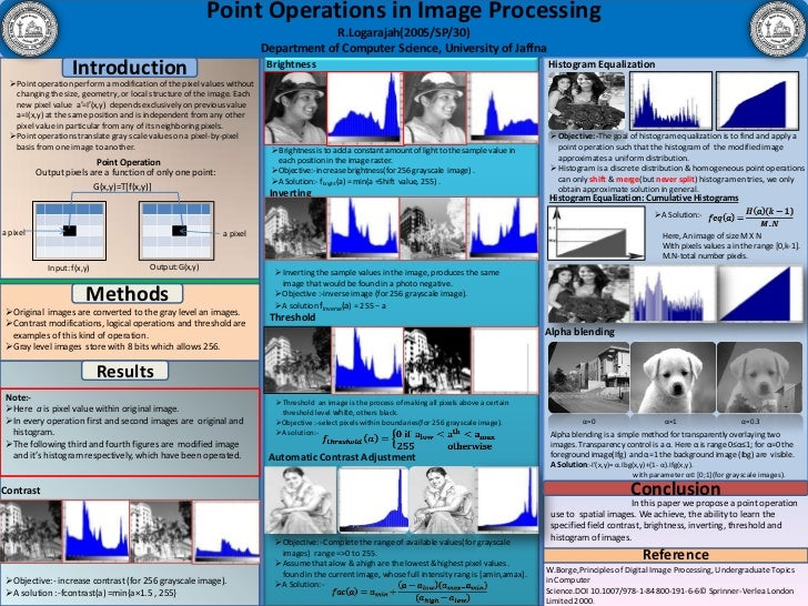 Point Operations in Image Processing<br />R.Logarajah(2005/SP/30)<br />Department of Computer Science, University of Jaffn...