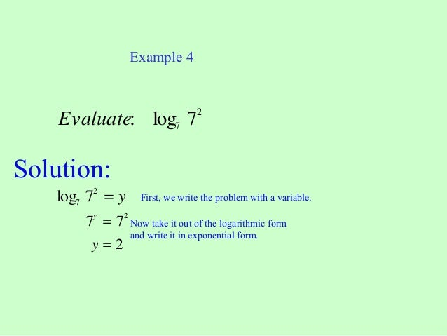 Natural Logarithms (to the base e)