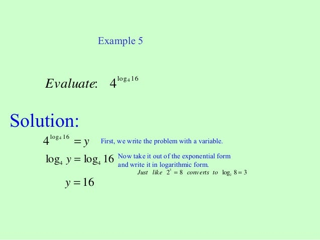 Solving Logarithmic Equations By Rewriting In Exponential Form Worksheet