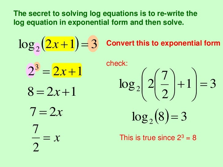 Logarithmic functions (2)