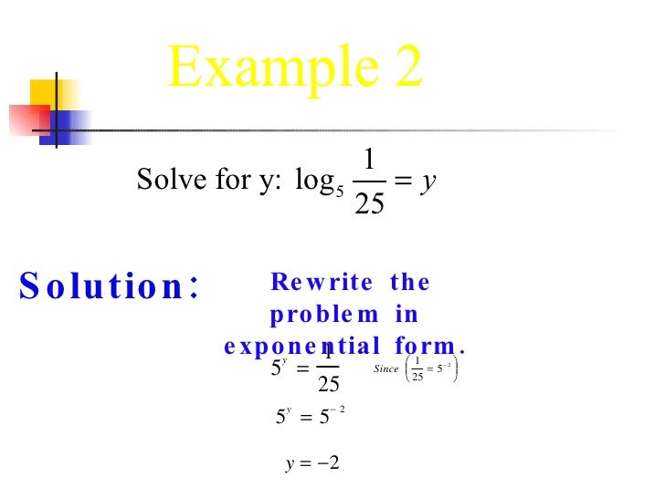 configsections re write as a logarithmic equation