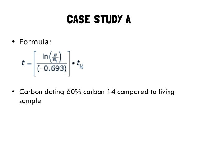carbon dating mathematics