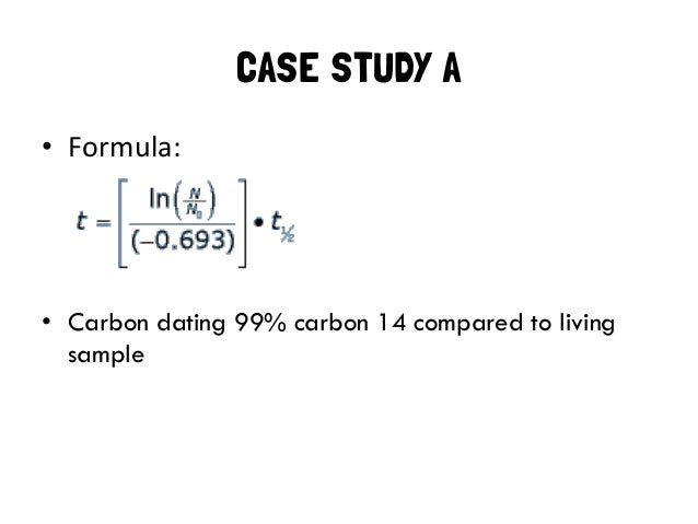 Formula for radiocarbon dating