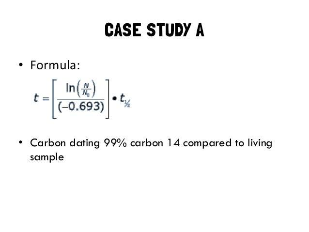 Formula for radiocarbon dating