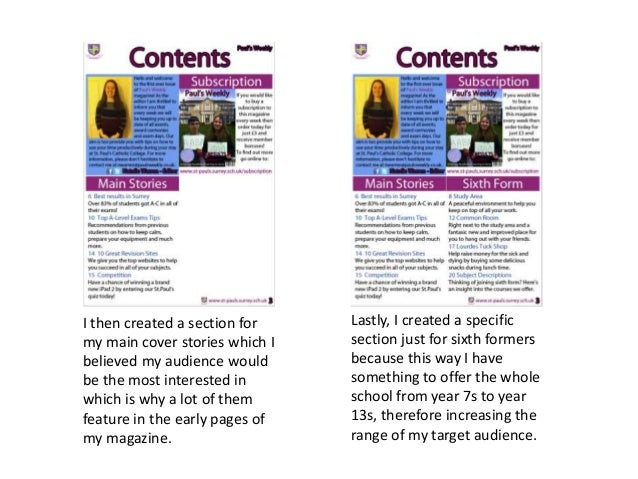 I then created a section for my main cover stories which I believed my audience would be the most interested in which is w...