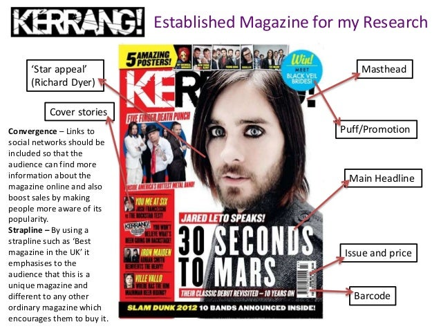 Established Magazine for my Research Masthead Puff/Promotion Barcode Main Headline Cover stories 'Star appeal' (Richard Dy...