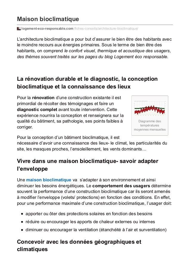 Maison bioclimatique  logement-eco-responsable.com /fiches-conseils/architecture-bioclimatique/  L'architecture bioclimati...
