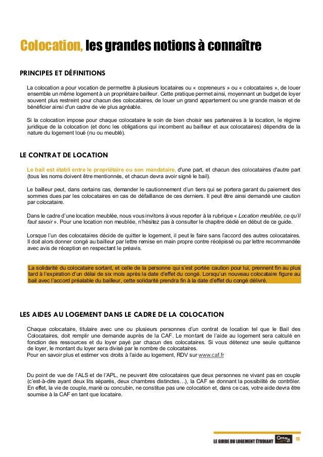 Le Guide Du Logement Etudiant 2018