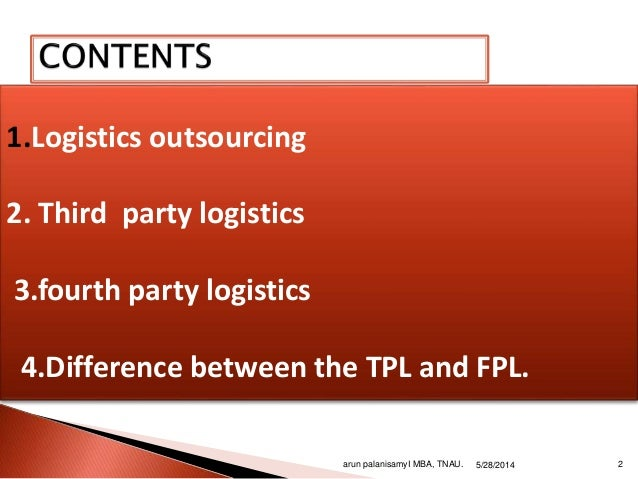 3patry and 4 party logistics Slide 2