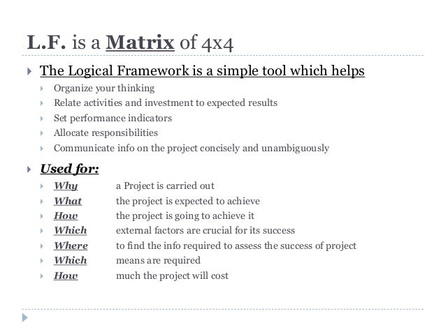 example of log frame 3