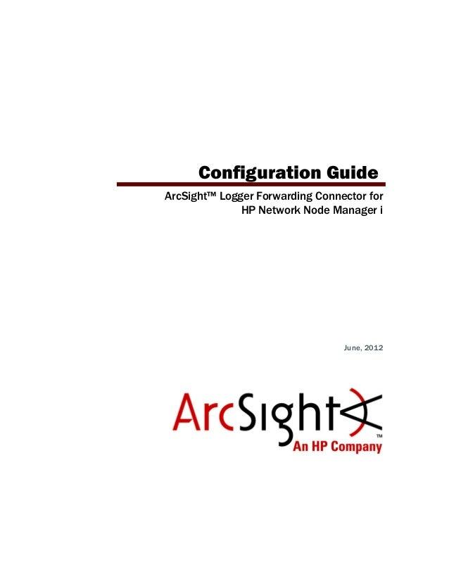 HP ArcSight Logger Forwarding Connector for HP NNMI