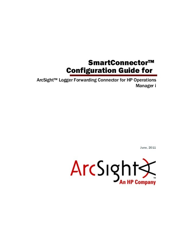 ArcSight Logger Forwarding Connector for HP Operations
