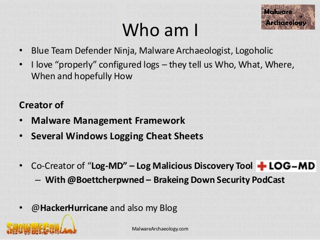 Logging for Hackers - What you need to know to catch them