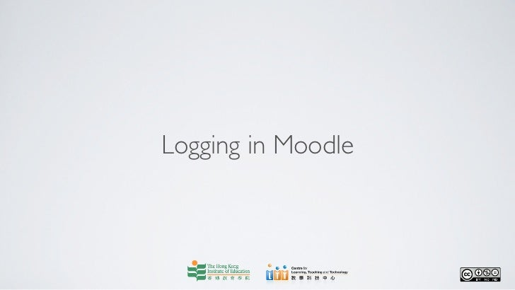 Logging in Moodle